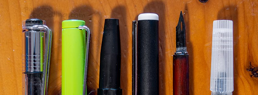 Different pens for drawing, sketching, and doodling